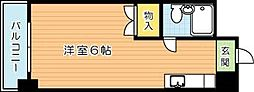 リアルシティ本城(分譲賃貸)A棟[4階]の間取り