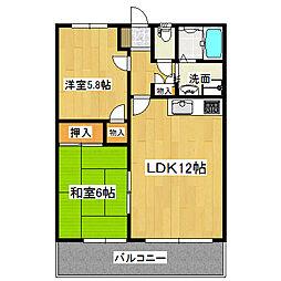 リベルテ・ノバンブル[2階]の間取り