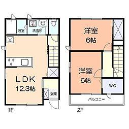 JR京浜東北・根岸線 港南台駅 バス15分 尾月下車 徒歩5分の賃貸テラスハウス 1階2LDKの間取り