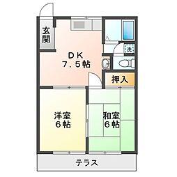 リディア赤坂 A[1階]の間取り