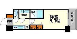 プレサンスNEO淀屋橋 11階1Kの間取り