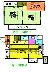 [一戸建] 東京都八王子市元八王子町2丁目 の賃貸【東京都 / 八王子市】の間取り