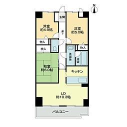 スカール喜多川A棟[8階]の間取り