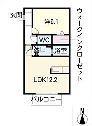 BLANCHE KONOMIYA[2階]の間取り