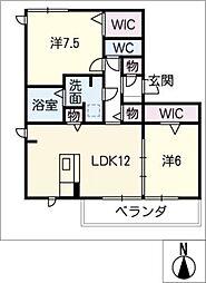 フォレ・クレストA[2階]の間取り