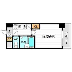 大阪府大阪市北区天満3丁目の賃貸マンションの間取り