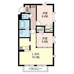 ボー・セジュール4番館[2階]の間取り