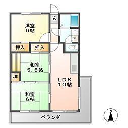 メゾン岩倉[3階]の間取り