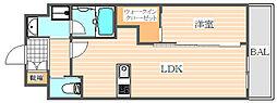 アクアステージ美野島[1階]の間取り