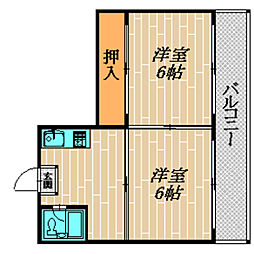 まさごマンション[101号室]の間取り