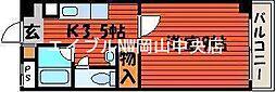 岡山県岡山市北区春日町の賃貸マンションの間取り