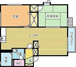 セトル嵐 C棟[1階]の間取り
