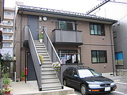 新潟県新潟市中央区鐙西1丁目の賃貸アパートの外観