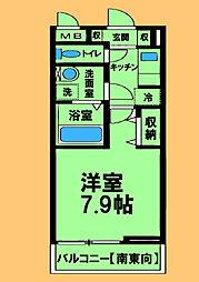 JR横浜線 淵野辺駅 徒歩9分の賃貸アパート 1階1Kの間取り