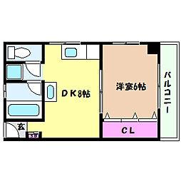 兵庫県神戸市灘区篠原中町6丁目の賃貸マンションの間取り