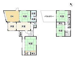 JR東海道・山陽本線 守山駅 徒歩17分 6DKの間取り