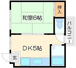 シャンクレール豊新[4階]の間取り