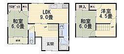 [一戸建] 石川県金沢市窪4丁目 の賃貸【石川県 / 金沢市】の間取り