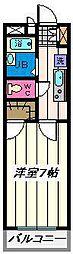 埼玉県さいたま市桜区新開2丁目の賃貸マンションの間取り
