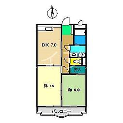 ハイツハピィバリーIIB棟[2階]の間取り