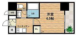 大阪府大阪市中央区糸屋町2丁目の賃貸マンションの間取り