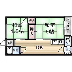 乾マンション[0203号室]の間取り