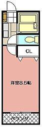 SUNハイツ岡田[2階]の間取り