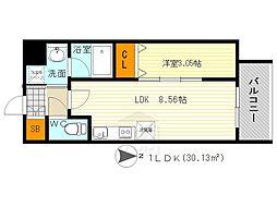 modern palazzo 江坂 AXIA 1[4階]の間取り