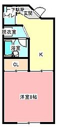 フジハウス[1階]の間取り