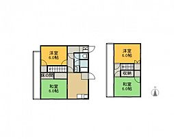 [一戸建] 広島県広島市安佐南区高取北2丁目 の賃貸【/】の間取り