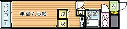 鷹の巣センチュリー21(分譲賃貸)[3階]の間取り