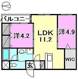ソレイユ小坂[107 号室号室]の間取り