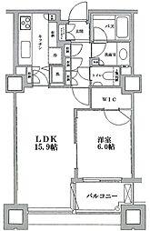 センチュリーパークタワー 19階1LDKの間取り