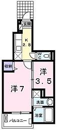 ラ・セゾン[102号室]の間取り