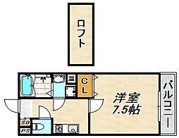 レジデンス伊川谷IV 1階1SKの間取り