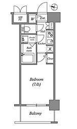 DimusKITAHORIE[4階]の間取り