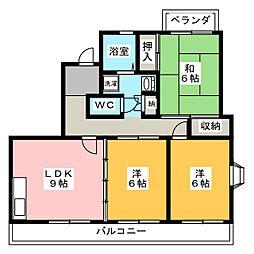 ベルエア佐鳴台[4階]の間取り