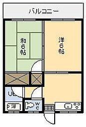 坂本アパート[203号室]の間取り