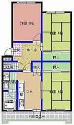桜下マンション[202号室]の間取り