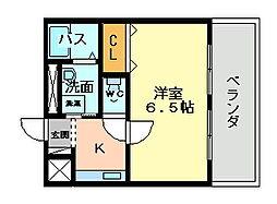 大阪府大阪市平野区瓜破1丁目の賃貸アパートの間取り