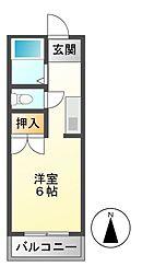 サントピア津田[1階]の間取り