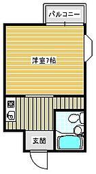 御崎マンション[307号室]の間取り