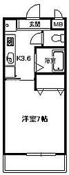 神奈川県平塚市万田の賃貸マンションの間取り