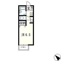 セジュール比叡[2階]の間取り