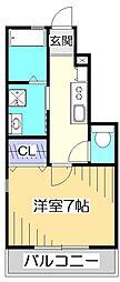 ミッキーハウス[1階]の間取り