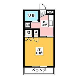 長坂ハイツ[2階]の間取り