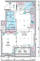ジェノヴィア東神田グリーンヴェール 5階1LDKの間取り
