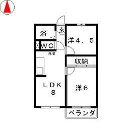 コーポサニー[2階]の間取り