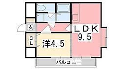 ベルトピア姫路I[205号室]の間取り