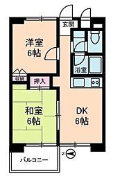 カピトール川崎[3階]の間取り